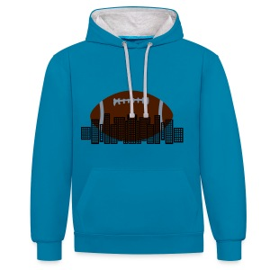 Rugby City Sweatshirt - Contrast Colour Hoodie