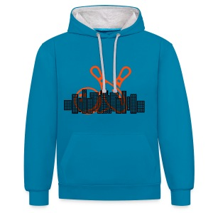 Bowling City Sweatshirt - Contrast Colour Hoodie