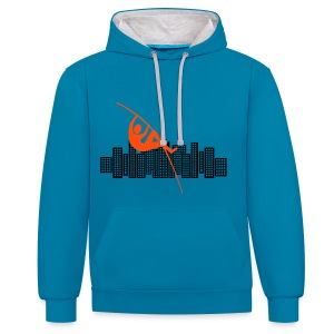 High Jumping City Sweatshirt - Contrast Colour Hoodie