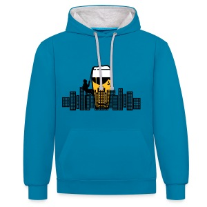 Bear City Sweatshirt - Contrast Colour Hoodie