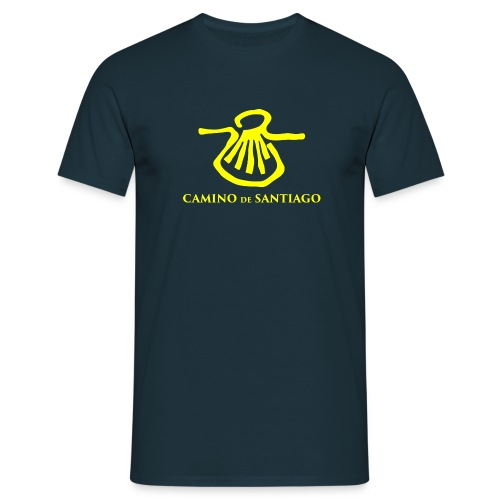 Camino de Santiago, gult tryk - Herre-T-shirt