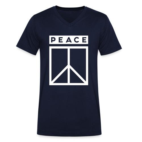 Practice Peace Man - Männer Bio-T-Shirt mit V-Ausschnitt von Stanley & Stella