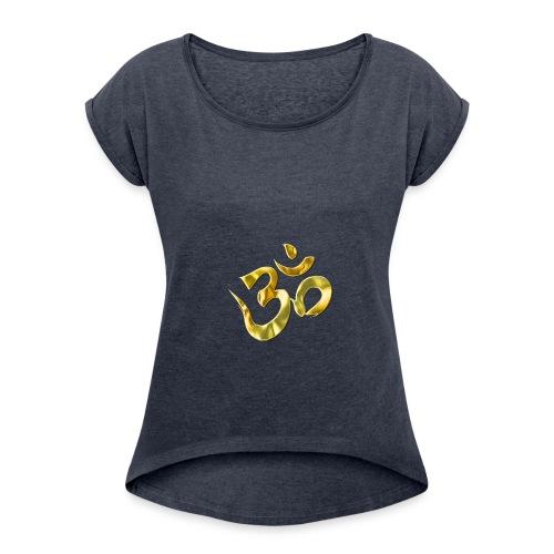 TestDani1 - Frauen T-Shirt mit gerollten Ärmeln