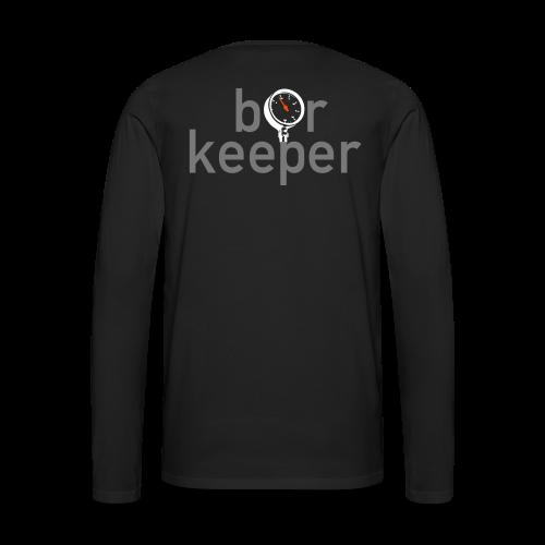 Männer-Langarmshirt mit Rückenprint Barkeeper - Männer Premium Langarmshirt