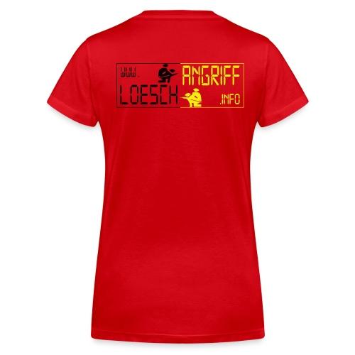 Rotes Damen-Shirt - loeschangriff.info - Frauen Bio-T-Shirt mit V-Ausschnitt von Stanley & Stella