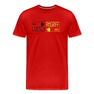 Rotes T-Shirt loeschangriff.info - Männer Premium T-Shirt