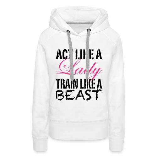 Women's Premium Hoodie - womens gym hoodie