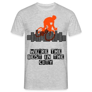 We're Cycling City T-shirt - Men's T-Shirt