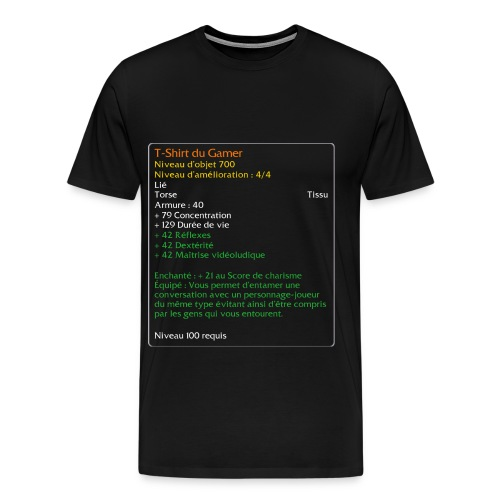 T-Shirt du Gamer - T-shirt Premium Homme