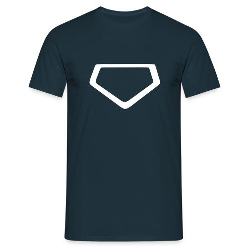 Baseball Shirt Homeplate - Men's T-Shirt