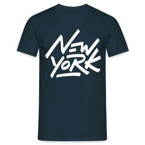 New York T Shirt Cooles Brust Logo  - Männer T-Shirt