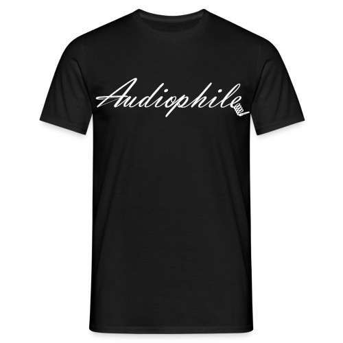 Audiophile Black - Men's T-Shirt