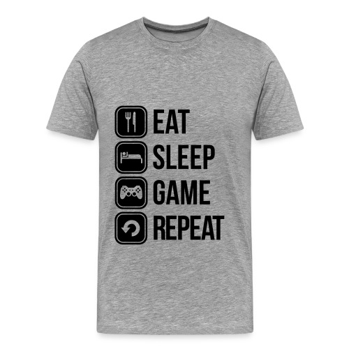 Männer Premium T-Shirt - T-Shirt,Shirt,Nicki,Logo,Kleidung,Game