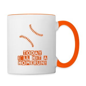 Baseball Mug Today i´ll hit a homerun - Contrasting Mug