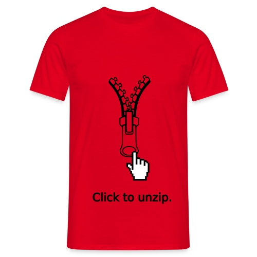 Click to unzip. - T-shirt Homme