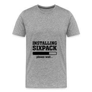 Installing SIXPACK - Mannen Premium T-shirt