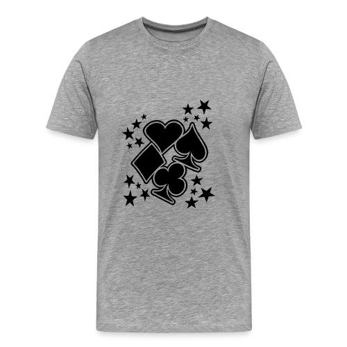 Poker - Mannen Premium T-shirt