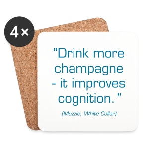 Coaster w/Mozzie quote - Coasters (set of 4)