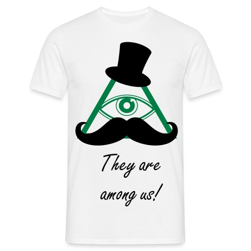 They are among us! - Herre-T-shirt