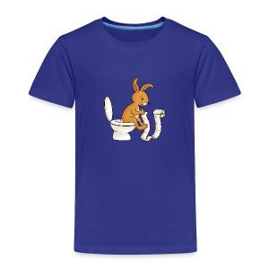 Klein-Hasi auf Toilette, Kinder T-Shirt - Kinder Premium T-Shirt