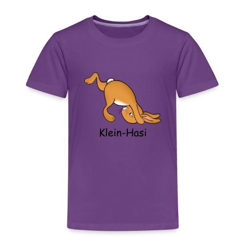 Kinder T-Shirt mit Klein-Hasi macht einen Purzelbaum - Kinder Premium T-Shirt