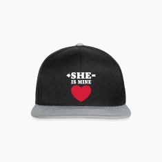 She is Mine I love you my Girlfriend Freundin Girl Caps & Hats