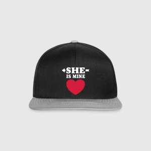 She is Mine I love you my Girlfriend Freundin Girl Caps & Mützen - Snapback Cap