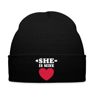 She is Mine I love you my Girlfriend Freundin Girl Caps & Hats - Winter Hat