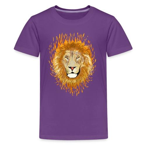 Lion Feu ado - T-shirt Premium Ado