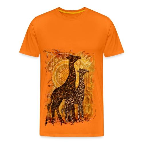 Giraf - Herre premium T-shirt