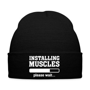 Winter Hat black Installing Muscles  - Winter Hat