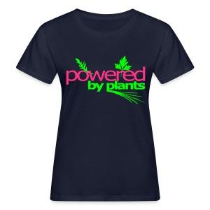 powered by plants girls - Frauen Bio-T-Shirt