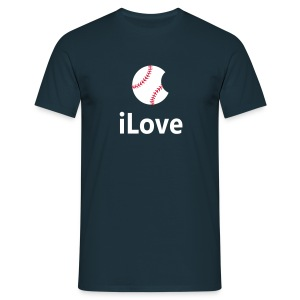 Baseball Logo Shirt  iLove Baseball - Men's T-Shirt