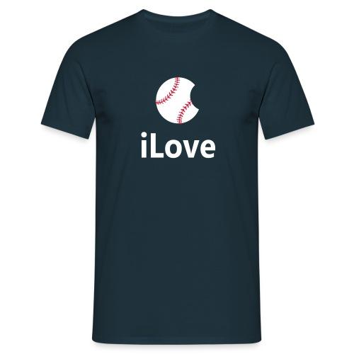 Baseball Logo Shirt  iLove Baseball - Men's T-Shirt