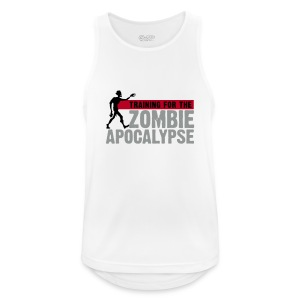 Training for the Zombie apocalypse | mens - Men's Breathable Tank Top