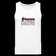 Sports wear ~ Men's Premium Tank Top ~ Training for the Zombie apocalypse | mens