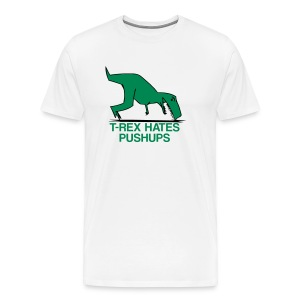 t-rex hates pushups | mens - Men's Premium T-Shirt