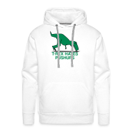 Hoodies & Sweatshirts ~ Men's Premium Hoodie ~ t-rex hates pushups | mens