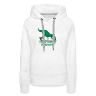 Hoodies & Sweatshirts ~ Women's Premium Hoodie ~ t-rex hates pushups | womens