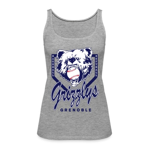 DEBARDEUR GIRL GRIZZLYS Grey - Débardeur Premium Femme