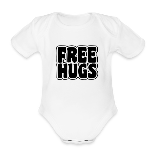 free hugs kids - Organic Short-sleeved Baby Bodysuit