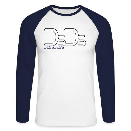 tee shirt manche longue logo NOIR et BLEU - T-shirt baseball manches longues Homme