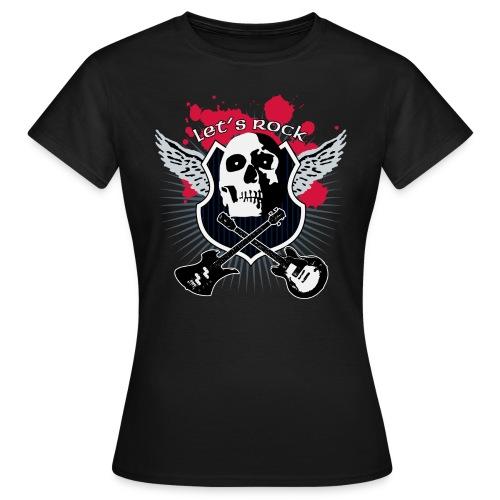 T-Shirt ADDICTSHIRTS Rock&Skull III - Camiseta mujer
