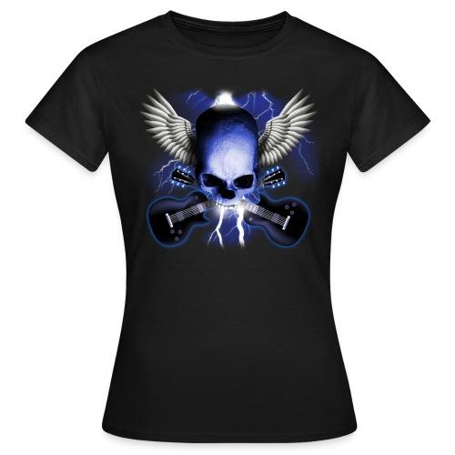 T-Shirt ADDICTSHIRTS Rock&Skull I - Camiseta mujer