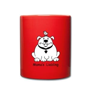 Dicker, süßer Hund, Tasse, Accessoires - Tasse einfarbig