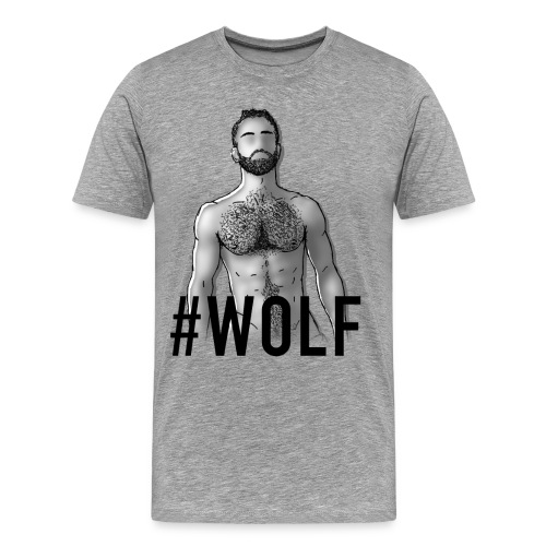 GAY TRIBE GEAR TEE / WOLF - Men's Premium T-Shirt