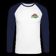 Manches longues ~ Tee shirt baseball manches longues Homme ~ T.shirt base-ball HOMME BLANC-BLEU