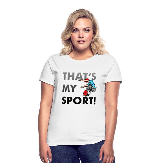 online retailer 40980 915dc Damen T-Shirt, Skater Motiv