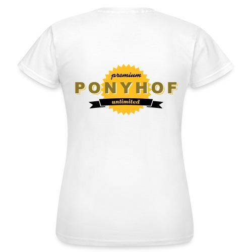 T-shirt ponyhof - T-shirt dam