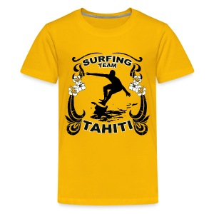 Tahiti Surfing Team - Teenage Premium T-Shirt